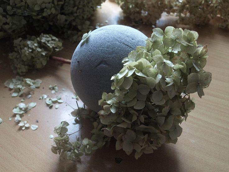 Příprava stromečků z hortenzií