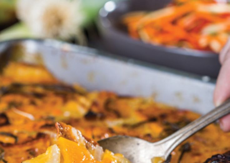 Cheddar–Butternut Squash Gratin. Would obviously switch a couple things out.