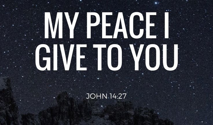 "John 14 ""Peace I leave with you, My peace I give to you; not as the world gives do I give to you. Let not your heart be troubled, neither let it be afraid."" John 14:27 Jesus is speaking…"