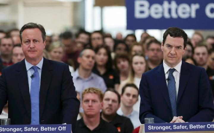 David Cameron and George Osborne speak about the dangers of Brexit during a…
