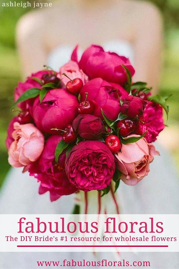 The DIY Bride's #1 resource for DIY wedding flowers Fabulous Florals Buy Bulk wholesale diy flowers here! www.fabulousflorals.com #weddingdecor #diywedding #diyflowers #peonies #bouquet