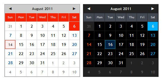 20 Free jQuery Calendar Date Picker Plugins | Search by Muzli