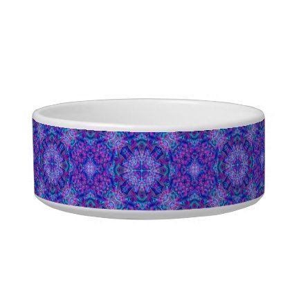 Purple And Blue  Vintage Kaleidoscope Pet Dish - home gifts ideas decor special unique custom individual customized individualized