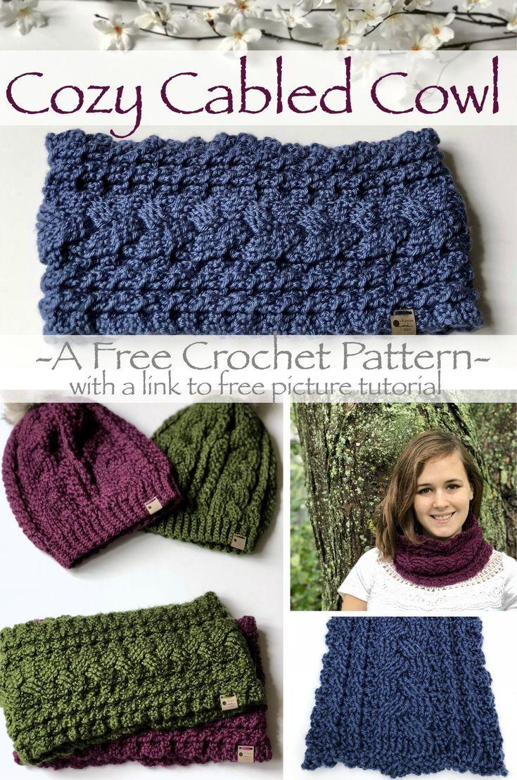 Cozy Cowl-Cowl Livre Padrão De Crochet