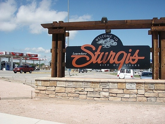 Sturgis, SD... we just passed through...in a car not on a bike...LOL