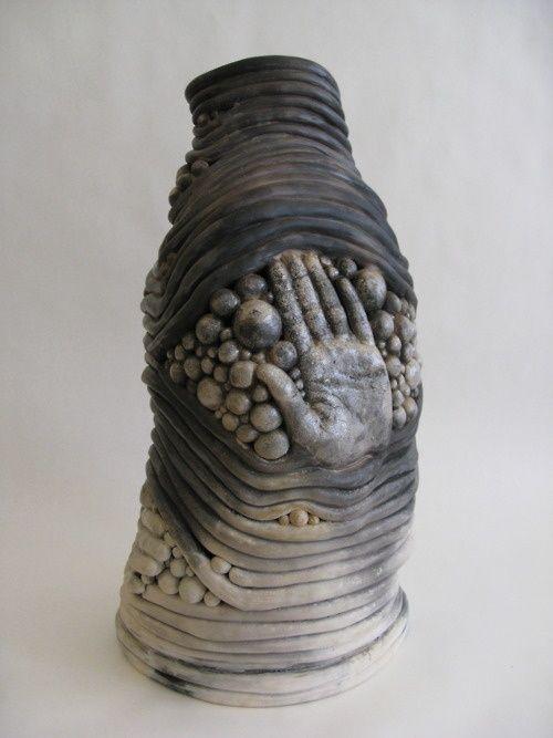 Hand coil pot claire woolard clayworks sculptures