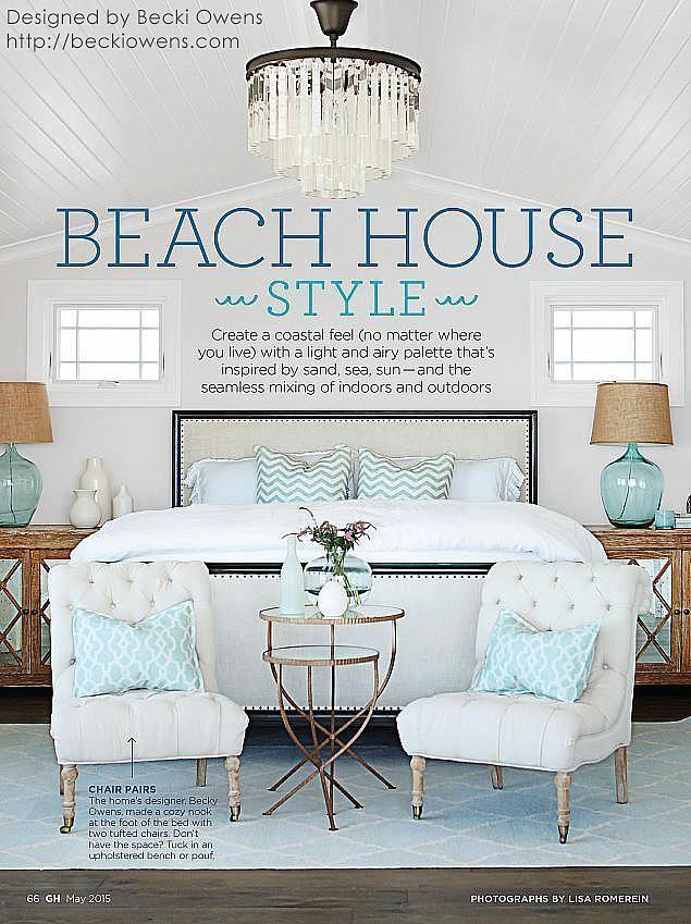 Beach house style from Sarah Richardson board. Becki Owens Design