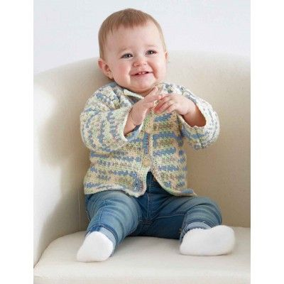 Baby's First Cardigan | Yarnspirations | Bernat Baby | Easy pattern | Baby Shower Gift