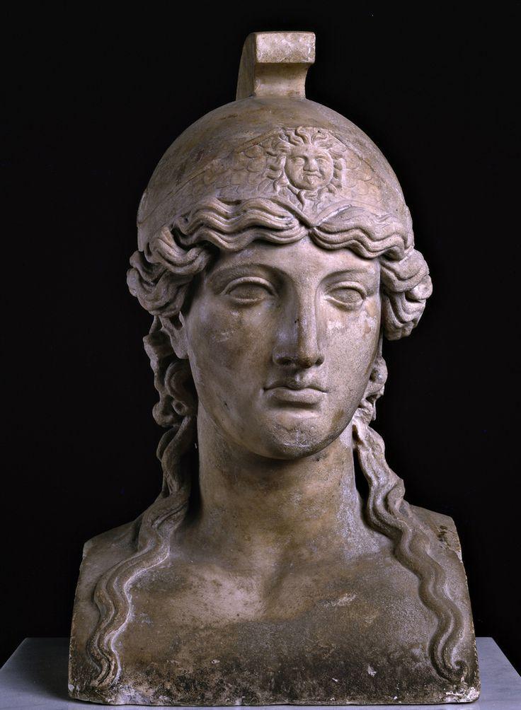 Erma di Atena, I a.C. Museo Archeologico Nazionale, Napoli. Provenienza Villa dei Papiri, Ercolano. Cultura romana