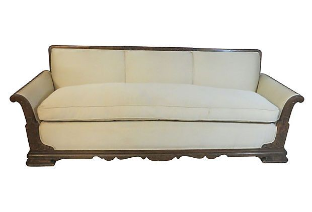Carved Mediterranean Sofa ~~~ great clean lines on this. Love the design!