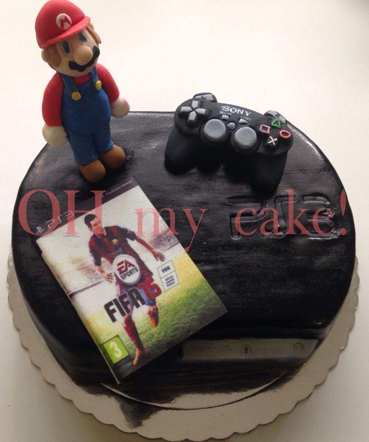 Torta Play Station #Cake #PS  #MarioBross