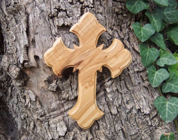 Cross solid olive wood Orthodox style  cross by ellenisworkshop