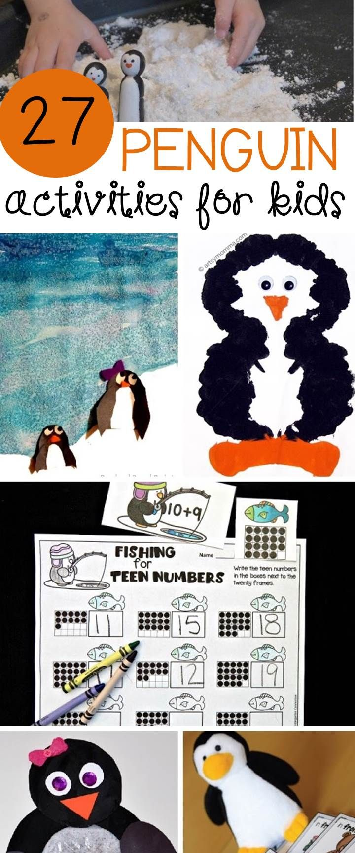 These 27 super cool penguin activities for kids are must-try crafts, printables, and experiments to add to your lesson plans or penguin unit!