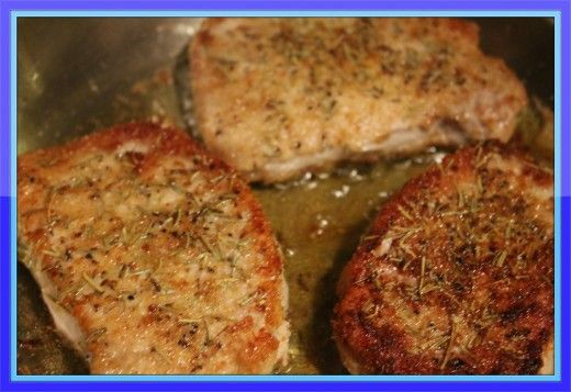 Lemon Rosemary Pork Chops Recipe, from Crazy Horse's Ghost. Article also discusses various marinades for port chops. There are 4 recipes here.