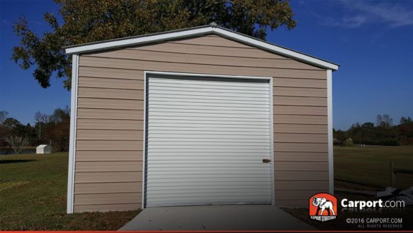 20 X 30 X 12 Custom Double Wide Garage With Clear Panels