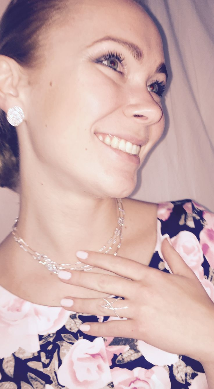 Our model wearing our limited edition Diamond earrings, necklace and ring. @aminluxury.com