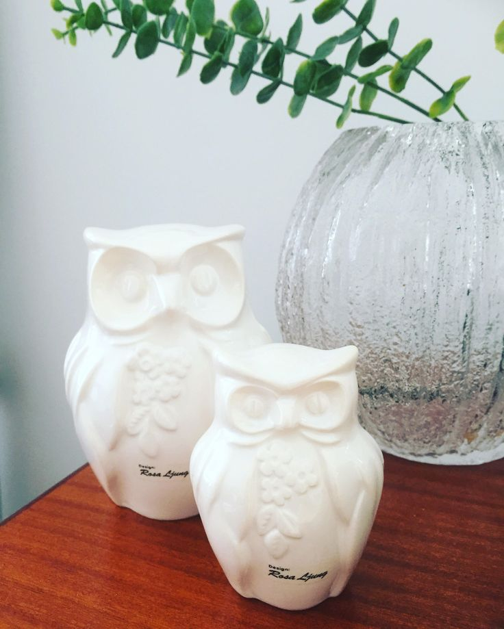 Rosa Ljung/owls/owl/figurines/swedish ceramics/midcentury by WifinpoofVintage on Etsy