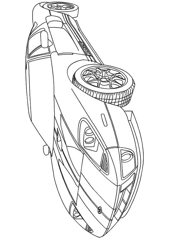 Ford Mustang GT Coloring page | Cars coloring pages, Mustang ... | 842x595