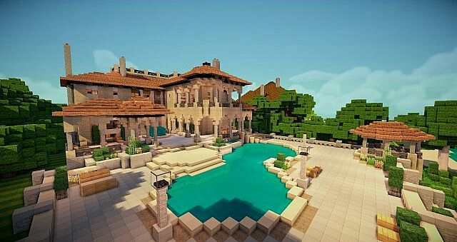 Minecraft mansion from @minecr4ft_biome