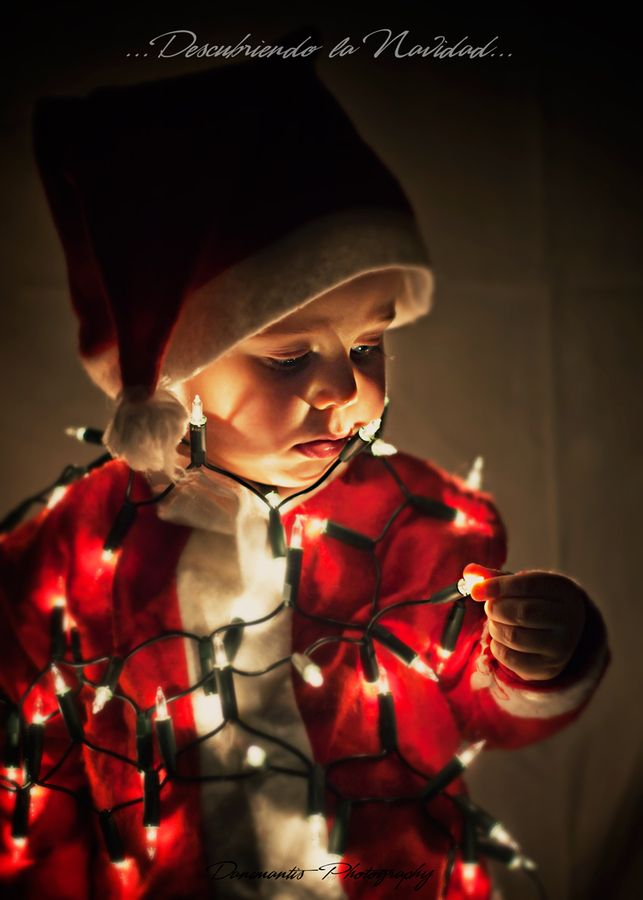 Great idea, but honestly it looks like someone tried to tie the kid up with christmas lights. Maybe just a little looser...