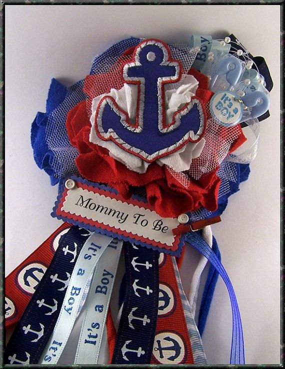 Hey, I found this really awesome Etsy listing at https://www.etsy.com/listing/184783457/its-a-boy-nautical-anchor-corsage