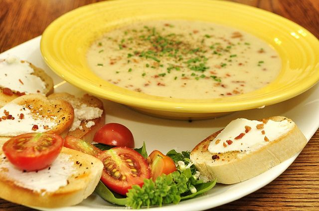 Kale Soup and Potato Soup