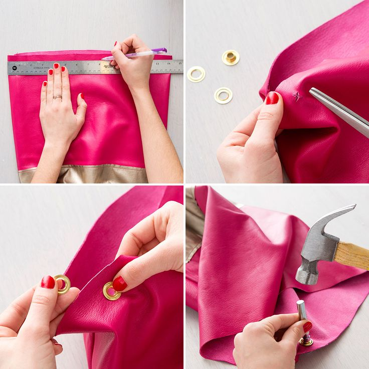Make a Kate Spade-inspired bucket tote with this tutorial.