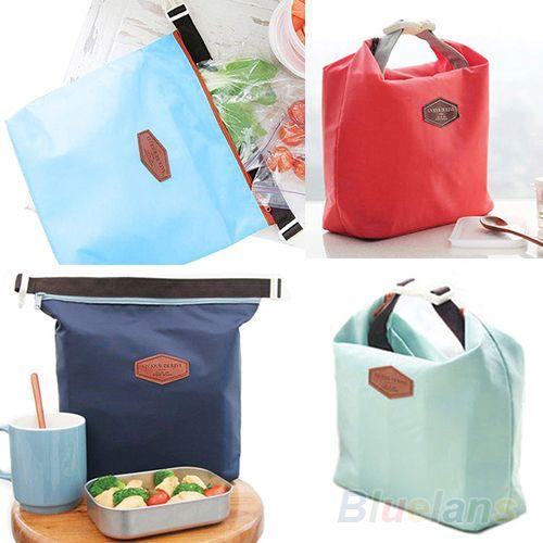 Térmica refrigerador aislado almuerzo impermeable llevar almacenamiento Picnic bolsa bolsa bolso del almuerzo 12VV