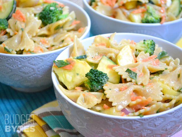 Creamy Garden Pasta Salad - Budget Bytes