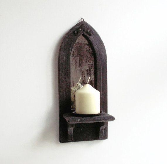 Gotische Spiegel Kerze Halter Regal Wand von  CraftyWorksCornwall  Gothic