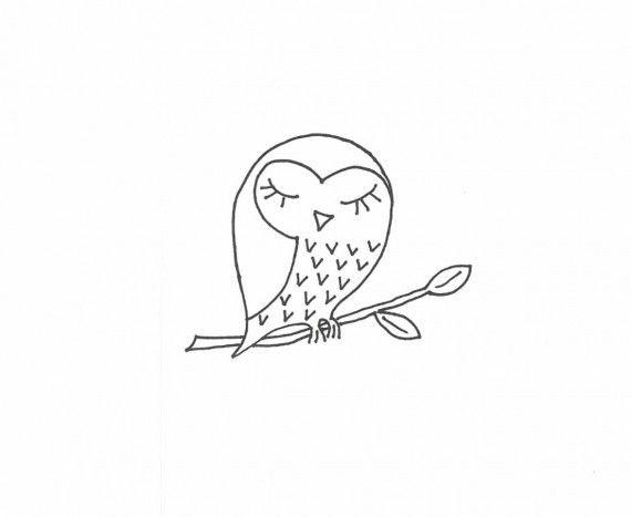 Maklike borduurwerk - borduur jou eie bok, uil en varingtakkie   SARIE
