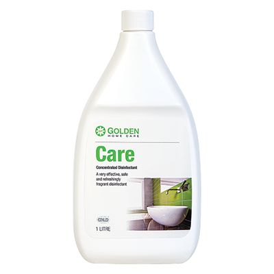 Care is a highly concentrated disinfectant, intended for use on inanimate surfaces and designed to destroy a wide variety of germs.