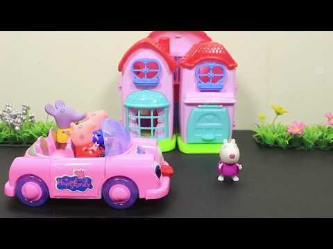 Toy City Peppa Pig Toys Playhouse Playground for Kids and Play Slider Pe...