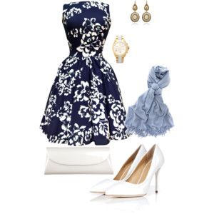 I love this classic look!!, White and navy are go to!
