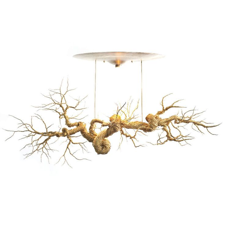 1stdibs | Twisted Brass Wire Chandelier: Branches Lamps, Twists Brass, Decoration Idea, Twists Metals, Metals Branches, Contemporary Twists, Brass Wire, Brass Sculpture Lamps, Mary Brogger