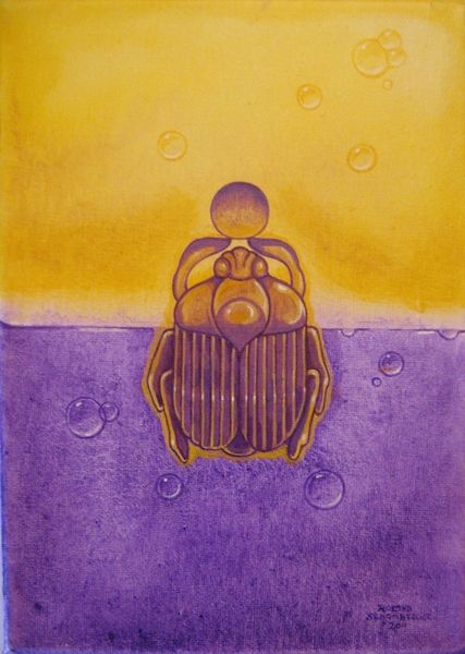 Ägyptische Flasche 1,  B18 Aura Soma Equilibrium von EternaLove by Roland Schamberger auf DaWanda.com