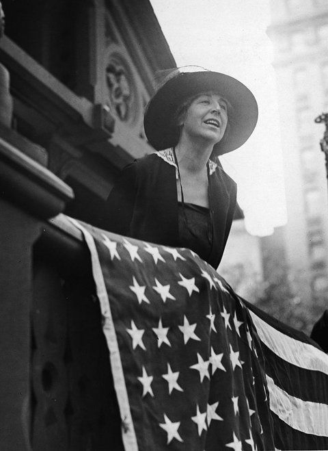 """A Nasty Woman: """"If I had my life to live over, I would do it all again, but this time I would be nastier."""" Jeannette Rankin was the first woman elected to congress. A lifelong pacifist, she opposed the war declaration of 1917, and voted against declaring war on Japan after the attack on Pearl Harbor in 1941. Rankin was also instrumental in initiating the legislation that eventually became the 19th Constitutional Amendment, granting unrestricted voting rights to women."""