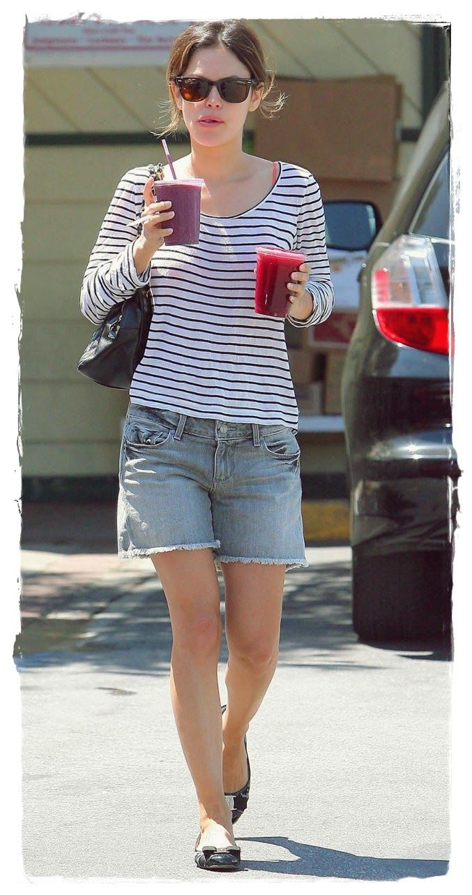 #Rachel #Bilson #Denim #Shorts Street Snapshot 08