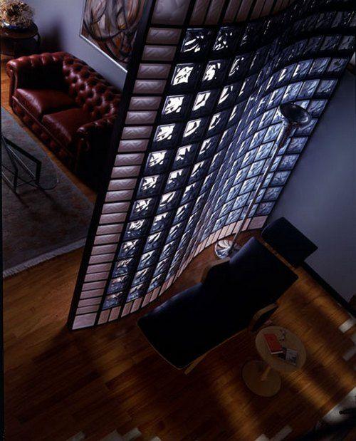 перегородки из стеклоблоков