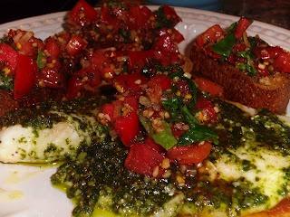 pesto roasted denise larios tilapia with pesto and roasted tomatoes ...