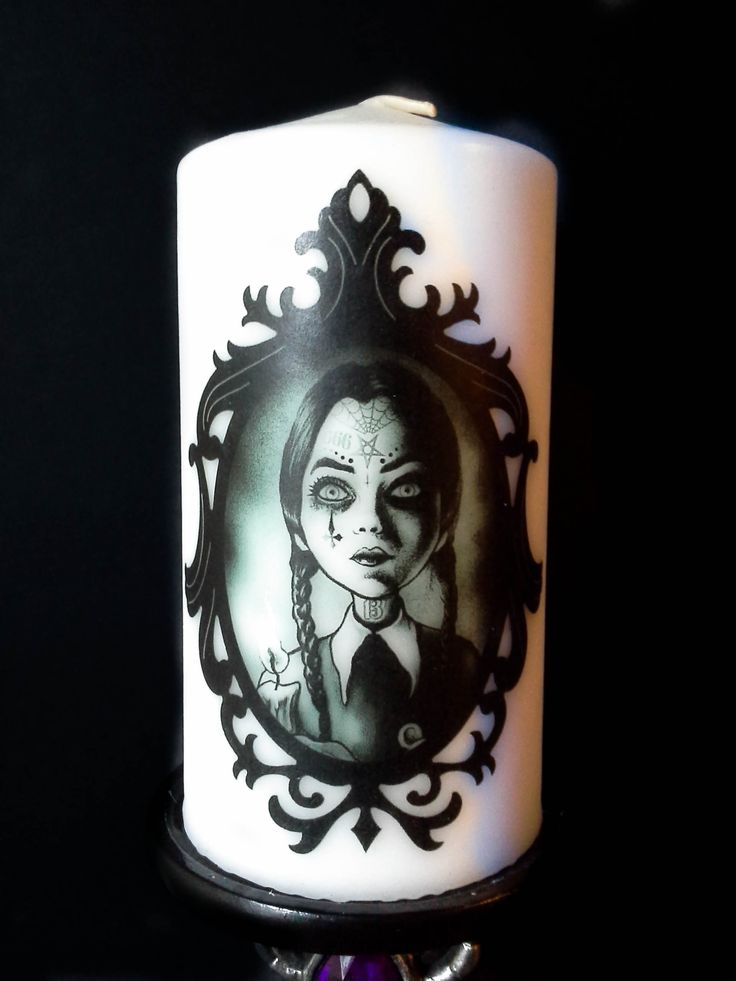 "This candle measures about 5.5""x3"". White in color and unscented. Recommended for decorative purposes.   This candle features the artwork of Marcus Jones/Screaming Demons.   To view more of Screaming Demons' art visit:  https://www.etsy.com/shop/ScreamingDemonsArt  ©Screaming Demons"