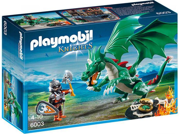 Playmobil - Chevalier avec grand dragon vert #jeux #jouet #puériculture #bebe #bébé #maternité #listedenaissance #naissance #cadeaunaissance #cadeau #futuremaman #grossesse #enceinte #chambreenfant #chambrebebe #playmobil #enfant #famille #dragon