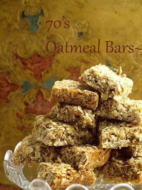 La Table De Nana: Oatmeal bars of the 70's~