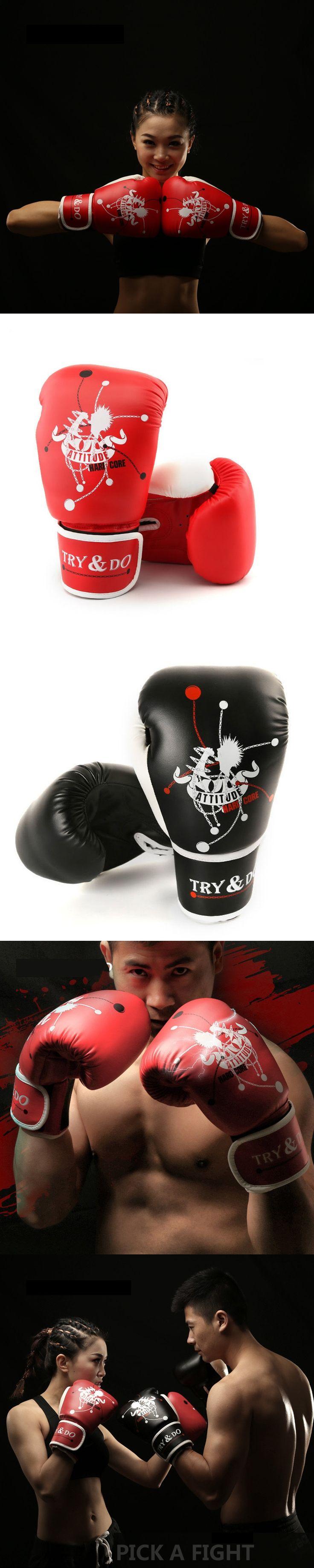 2017 hot MUAY THAI PU LEATHER BOXING GLOVES FOR MEN WOMEN TRAINING IN MMA GRANT BOX GLOVES  10OZ:48KG-55KG;    12OZ:57KG-86KG