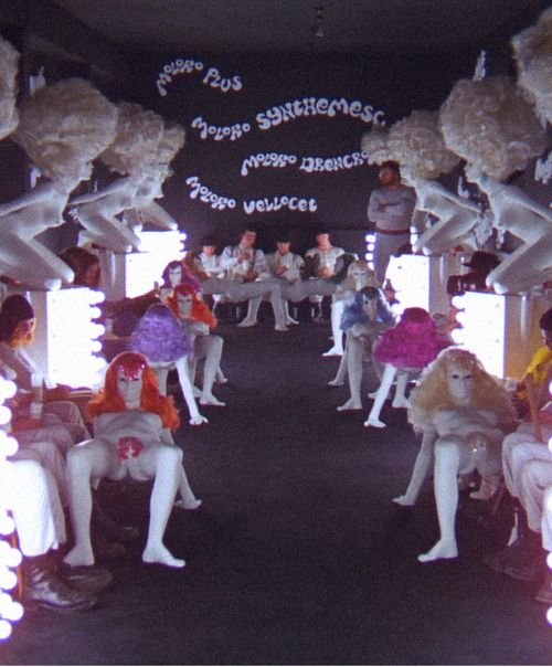 "Kubrick's ""A Clockwork Orange"" Alex and the Droogs at the Milk Bar."