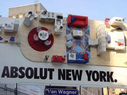 IKEA 3D Billboard in SoHo, NYC