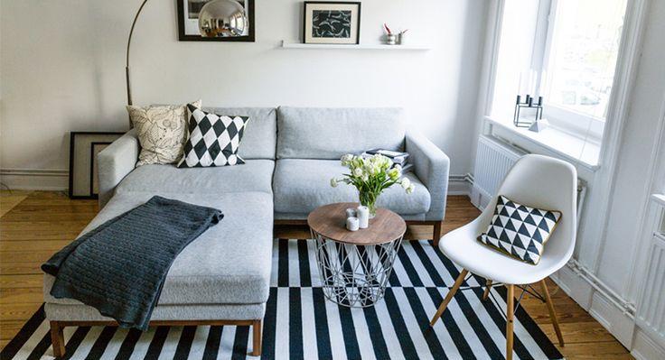 wohnzimmer in schwarz wei akzente setzen wohnen pinterest schwarz wei schwarzer und. Black Bedroom Furniture Sets. Home Design Ideas