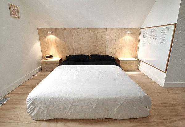 Plancher en contreplaqué pas cher pour la chambre à coucher