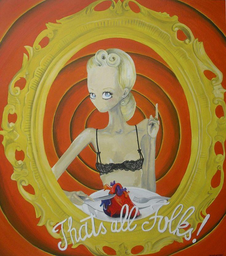 """""""Divorando i ricordi"""", Acrilico Su Tela, 2014 collezione privata  www.drunkenrabbit.jimdo.com"""