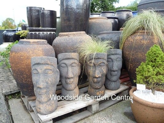 Old Stone Easter Island Head Planter | Woodside Garden Centre | Pots To  Inspire